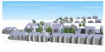 Computer generated view | PA15/10513 | Demolition of existing warehouse type building comprising 3,600 square metres of floorspace and the erection of a 70 unit residential development comprising 2no. 2-bed houses, 1no. 4-bed house, 10no one-bed flats and